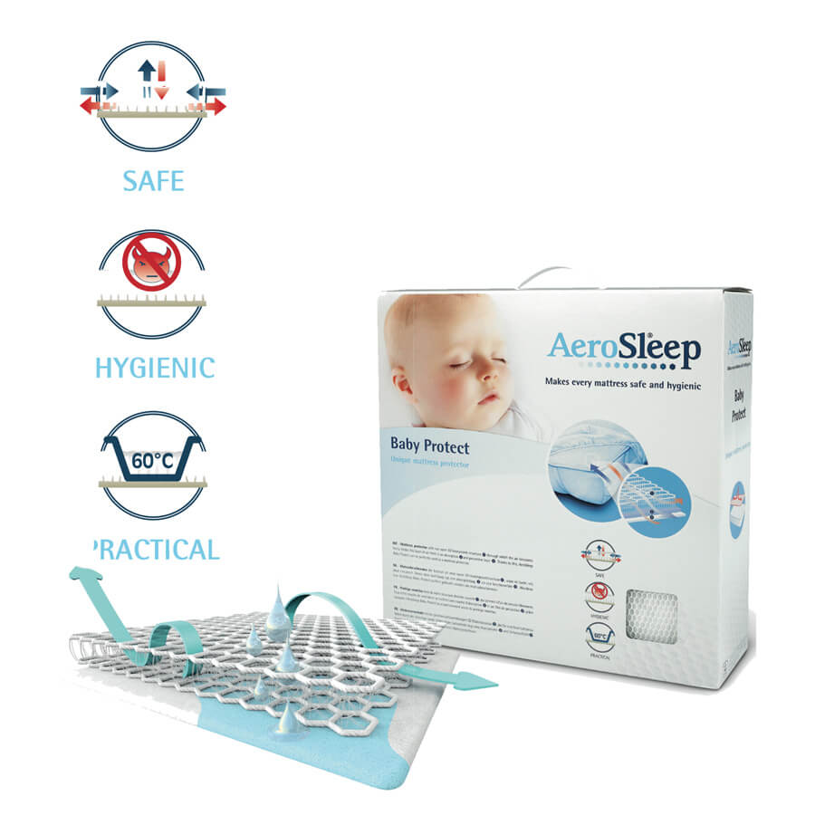 best service 2e863 d7c4f AeroSleep Baby Protect Mattress Topper – 70×140 (Cot Bed)