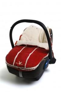 Wallaboo Footmuff Newborn | Red