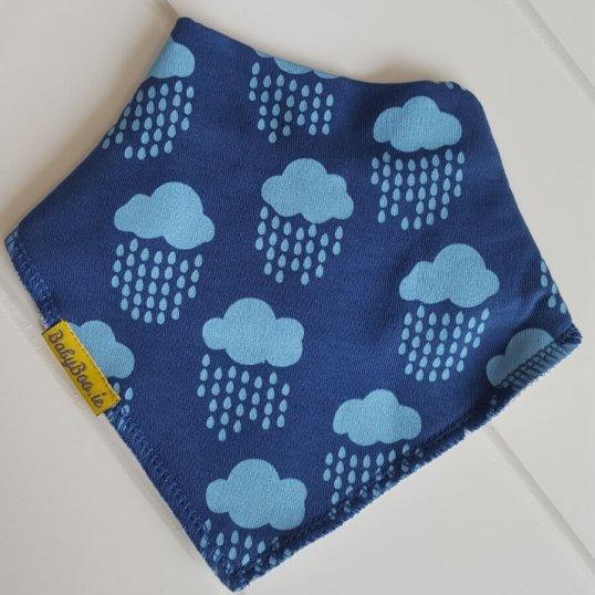 BABYBOO Teal Irish rainclouds bandana bib