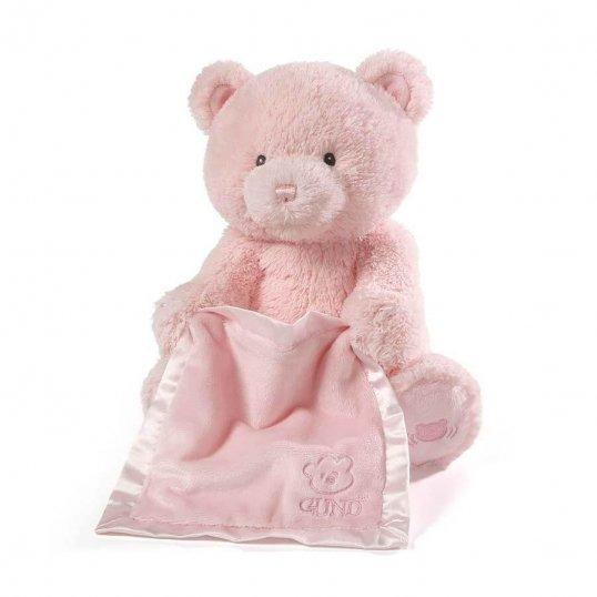 Peek a Boo Teddy Pink