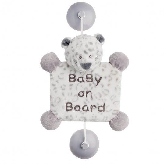 Baby On Board Snow Leopard