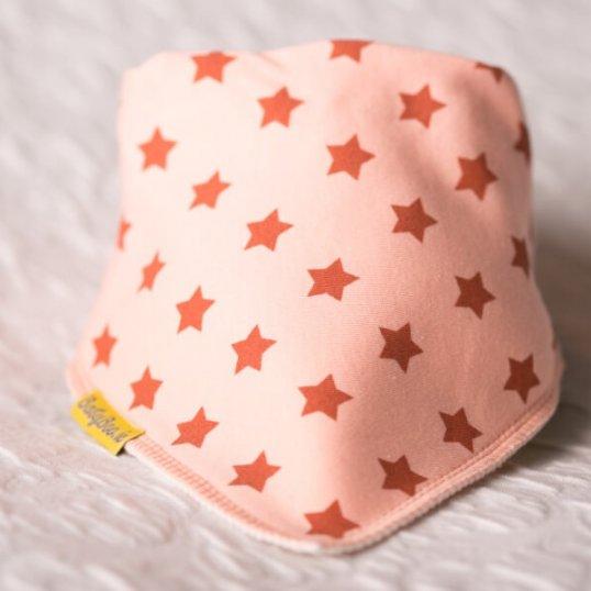BABYBOO Cinnamon Stars on Peach Bandana Bib