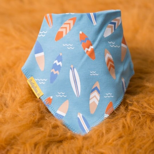 BABYBOO Cool Surfboards Bandana Bib