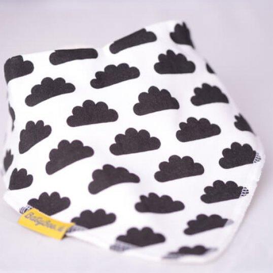 BABYBOO Monochrome up in the Clouds Bandana Bib