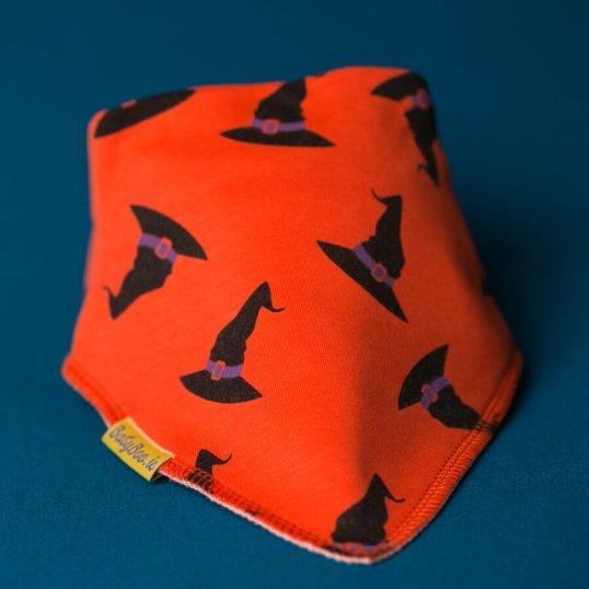 BABYBOO Spooky witches hats bandana bib