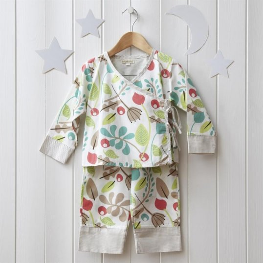 Baby Garden Kimono Pyjama_Cribs.ie