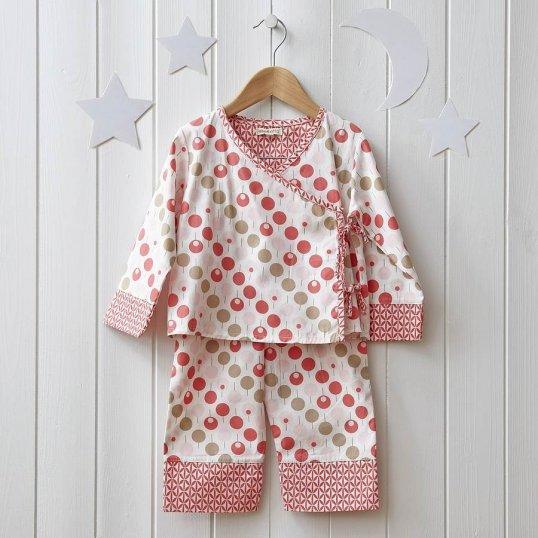 Baby Girl Lollipop Tearose Kimono Pyjama_Cribs.ie