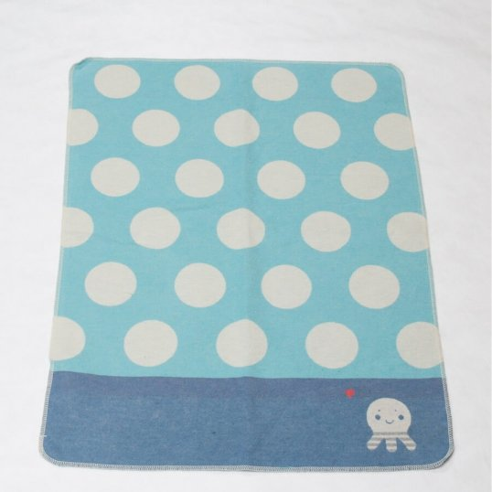 Dots and Octopus Blue Blanket