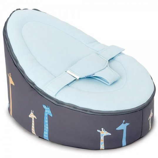 Doomoo Baby Bean Bag Seat Giraffe Blue