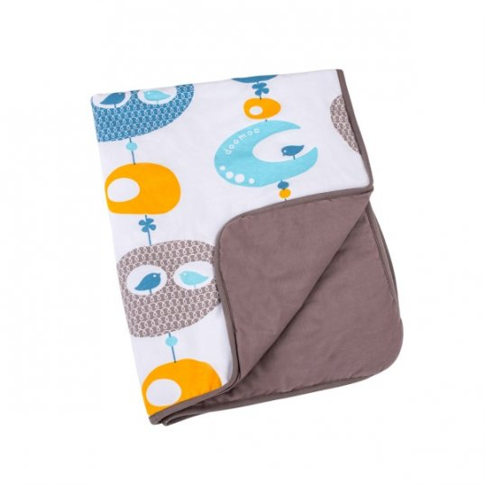 Doomoo dream Cotton Blanket Bird Blue_Cribs.ie