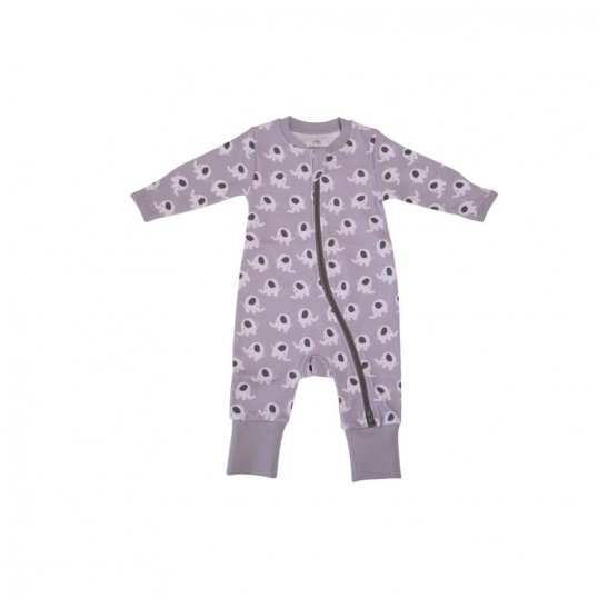 ELLIE ELEPHANT ORGANIC COTTON ZIPPYBOO SUIT