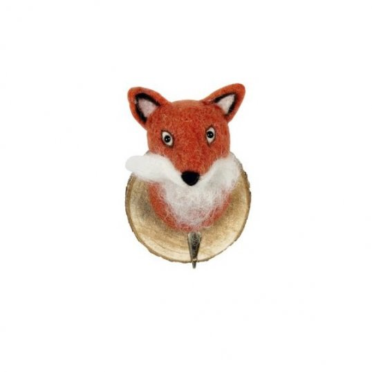 felt-fox-wall-hook