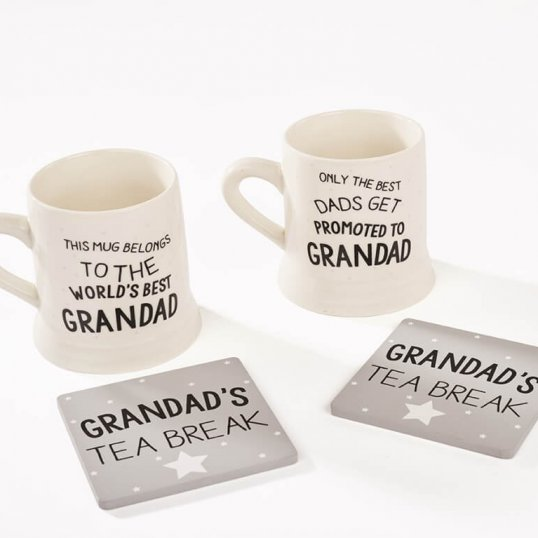 Grandad Mug and Coaster Set