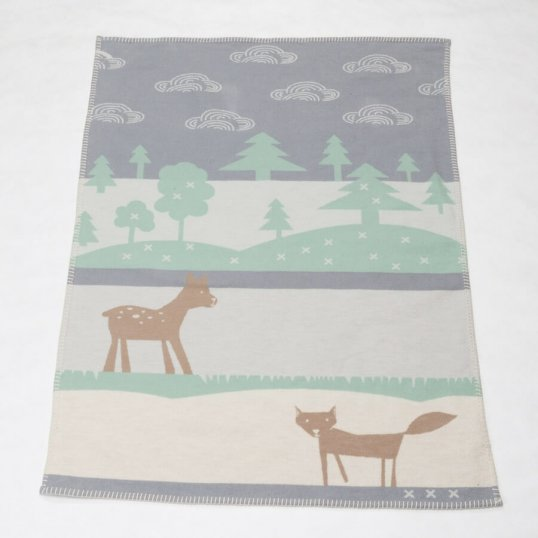 Bambi & The Fox Organic Grey Blanket