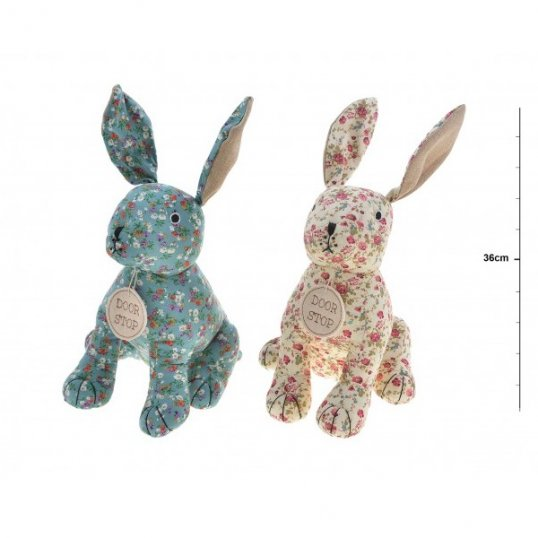 Floral Fabric Hare Doorstop
