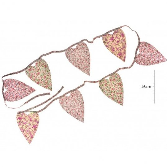 Heart Floral Bunting