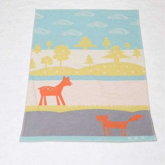Bambi & The Fox Organic Jade Blanket