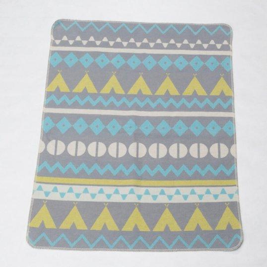 Mint Teepee Print Blanket