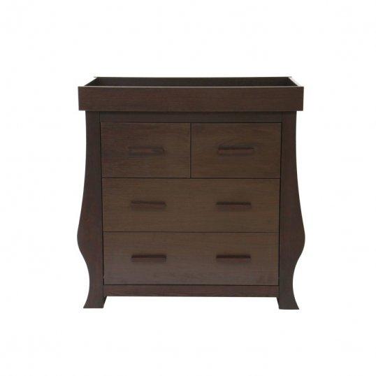 Walnut Sleigh Dresser Changer