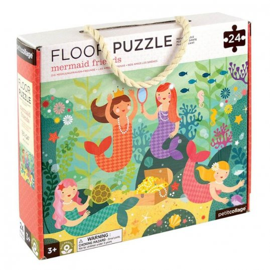 Mermaid Friends 24-Piece Floor Puzzle