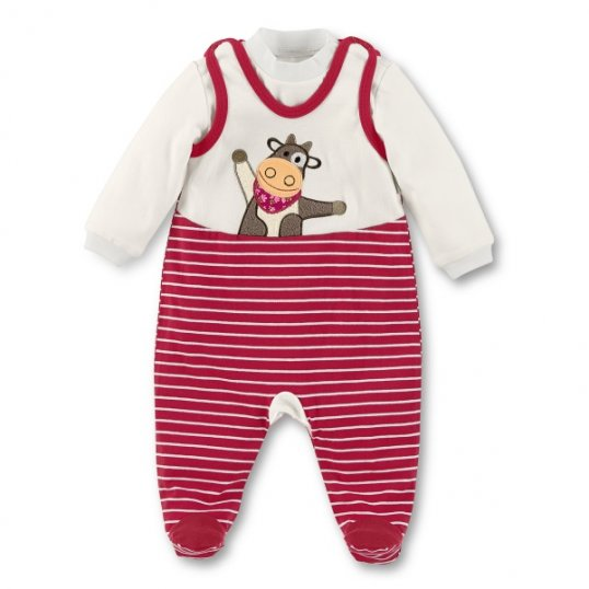 Moo Cow Dungarees set_Cribs.ie
