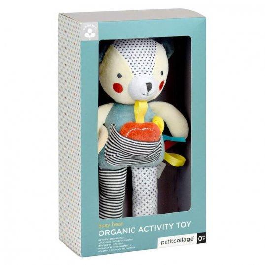 Organic Bear Soft Activity Toy