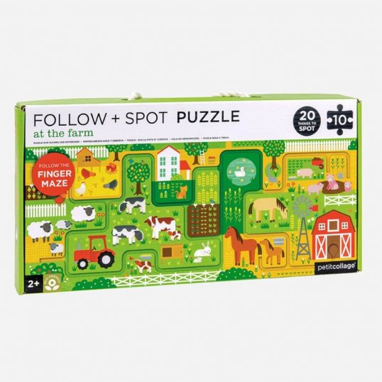 At The Farm Follow & Spot Puzzle