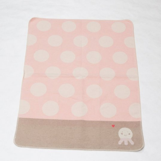 Dots and Octopus Pink Blanket