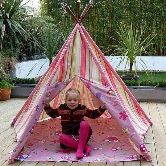 Pink Fairy Wigwam Tent
