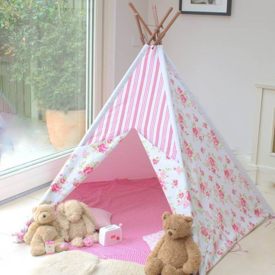 Pink Floral Wigwam Tent