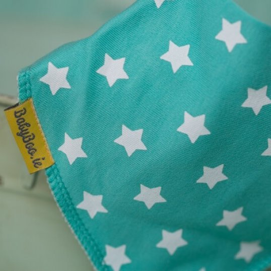 BABYBOO Sea Green With White Stars