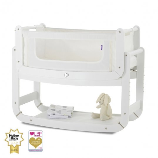 SnuzPod2 Bedside Crib 3 in 1 White