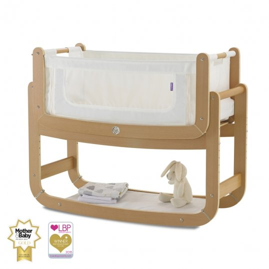 SnuzPod2 Bedside Crib 3 in 1 Natural