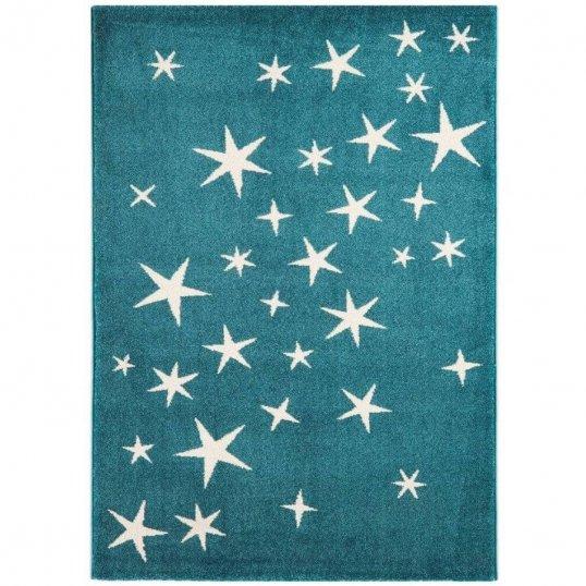Stars Blue Rug 100 x 150