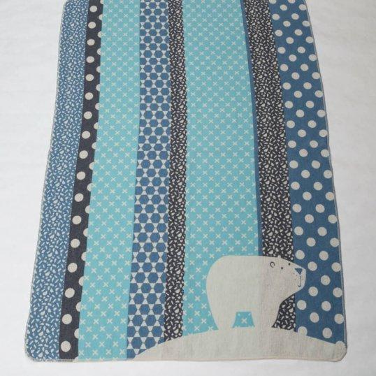 Blue Polar Bears & Dots Toddler Blanket