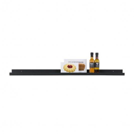 Photoframe Shelf, MDF Black 120cm