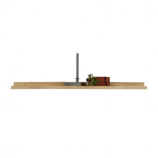 Photoframe Shelf, solid oak 120cm