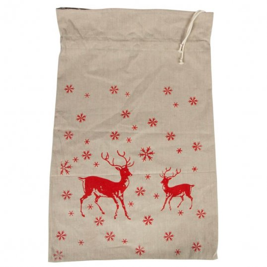 WINTER FOREST DEER SACK