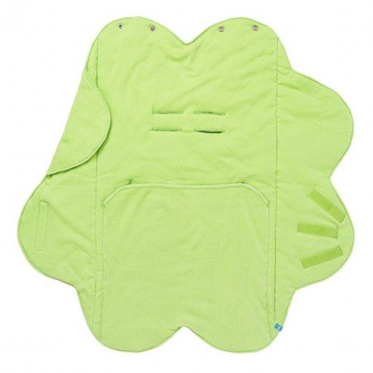 Wallaboo Fleur Cotton Wrapper Blanket Green_Cribs.ie