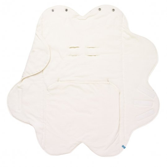 Wallaboo Fleur Cotton Wrapper Blanket Ivory_Cribs.ie