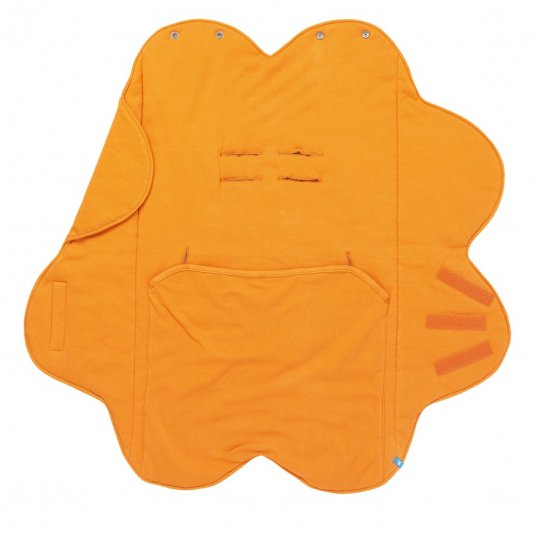Wallaboo Fleur Cotton Wrapper Blanket Orange_Cribs.ie