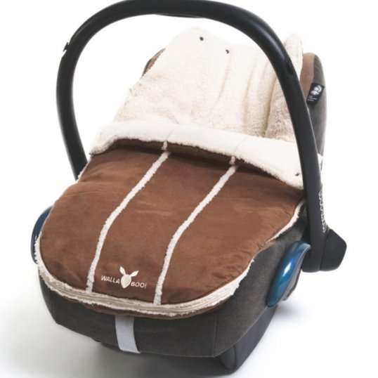 Wallaboo newborn footmuff Brown_Cribs.ie