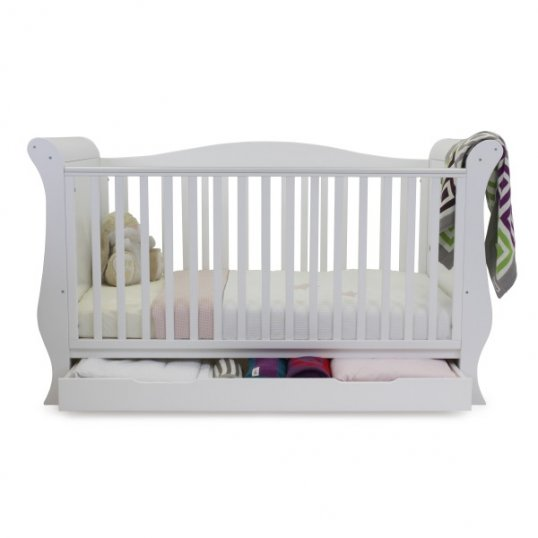 Sleigh Cotbed White