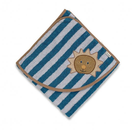 Leon The Lion Hooded Towel Blue