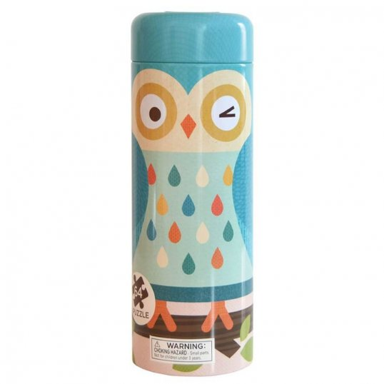 Owl Family 64-Piece Tin Canister