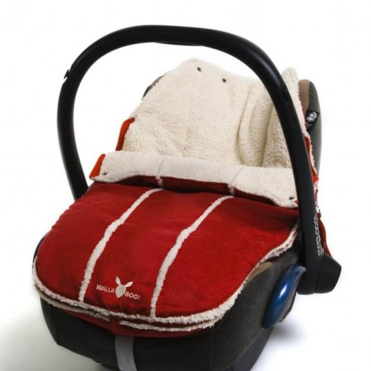wallaboo newborn footmuff red_Cribs.ie